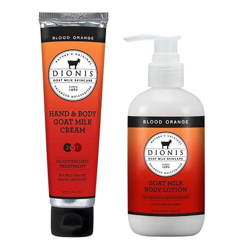 Dionis 8.5 oz Blood Orange Lotion with 3.3 oz Blood Orange Hand and Body Crème