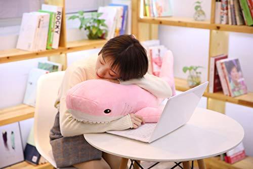 DOUFUZZ SNHPP Nettes Hai-Puppenkissenmädchen-Feiertagsgeschenk der kreativen Karikatur 15 cm Anhänger Rosa