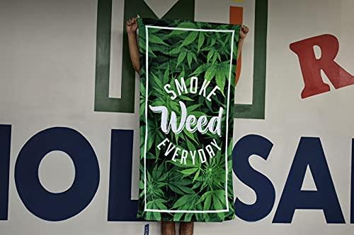 Island Gear Profile 30'x60' 100% Cotton Velour Beach Towel, Smoke Weed Everyday