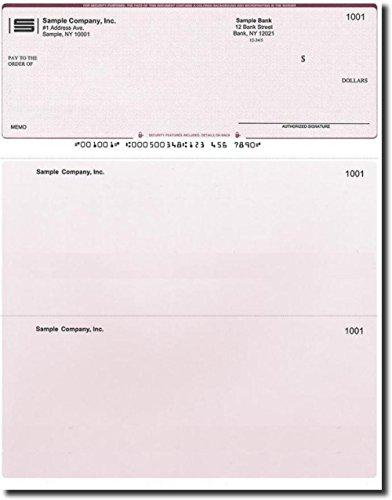 500 Computer Checks on Top - Printed - Compatible for QuickBooks - Burgundy Diamond