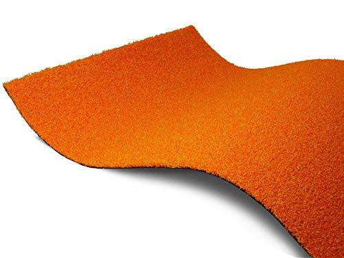Kunstrasen Rasen-Teppich Meterware WELLNESS - Orange, 2,00m x 3,00m, Farbechter, Wasserdurchlässiger Outdoor Bodenbelag für Balkon und Terrasse