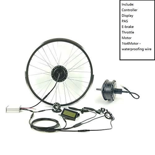 ZLM Elektro-Fahrrad Umbausatz Hinten Kassette Rad Motor36V350W Mit Display KTLCD3 E-Bike-Kit Elektronische Bike Conversion Kit,27.5inch LCD Sets