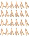 Meeden Lot de 24 mini chevalets de présentation en bois 12 cm pour mariage