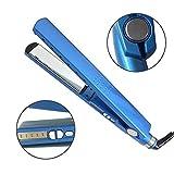 LYA Mini Lisseur, Fer Plat Défriser 5 Niveaux De Contrôle De La Température 1/4 Bleu Nano Titanium Lisseur