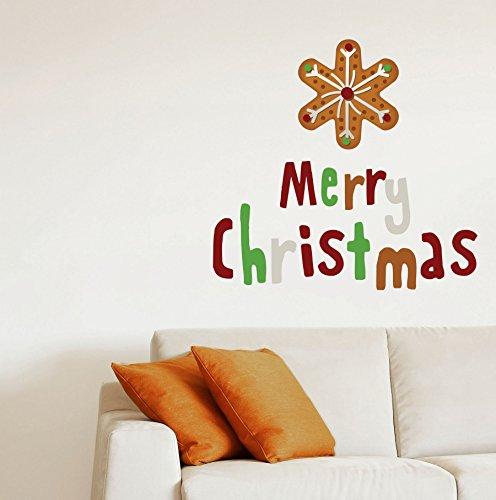 Dudecor 10487 Adesivi da Muro, Attacca/Stacca, Natale, Biscotto