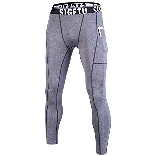 Herr gym leggings herr kompression torr cool sport tights byxor löpning leggings yoga herr...