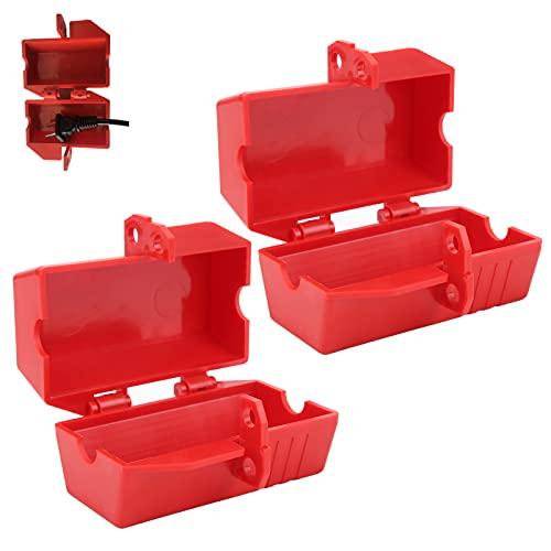 LOTO Plug Lock, Lockout Plug Lock Resistente al impacto Bloqueo del cable de alimentación Resistente a la corrosión para productos químicos para uso industrial para energía eléctrica
