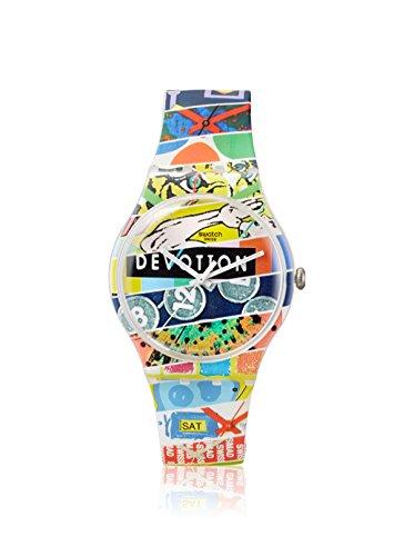 Swatch SUOZ170 - Reloj de Cuarzo Suizo Unisex con Pantalla analógica, Multicolor