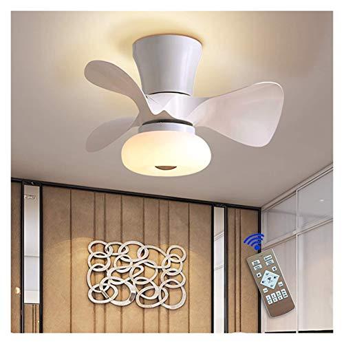 Luz de techo blanco 64W con ventilador, 3 colores cambiantes, luces de ventilador de techo LED con control remoto, velocidad ajustable, tiempo, iluminación de ventiladores para sala de estar, comedor,