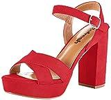 Refresh 69535.0, Zapatos con Tira de Tobillo Mujer, Rojo (Rojo Rojo), 37 EU