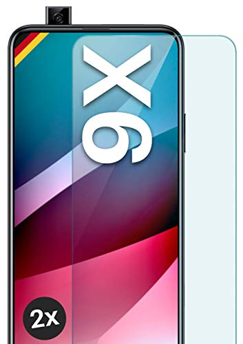 moex Panzerglas kompatibel mit Honor 9X - Schutzfolie aus Glas, bruchsichere Bildschirmschutz Folie, Crystal Clear Panzerglasfolie, 2X Stück