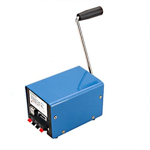 Generatore Crank CAMTOA 20W Multifunzione Alimentazione Elettrica, Caricatore Interfaccia USB