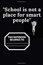 """""""Rick and Morty"""" School notebook , paperback, exercise book, 100 pages, white paper: School notebook, Rick and Morty, Moti..."""