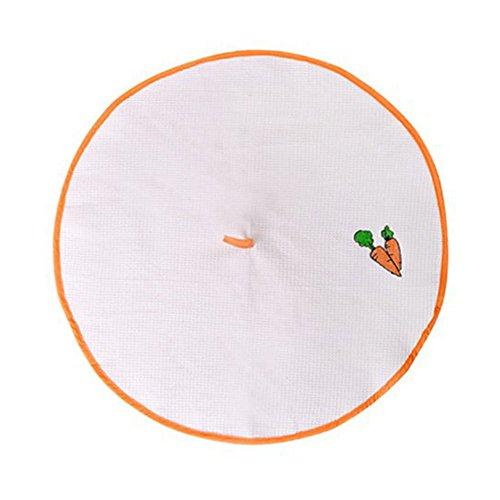 Fltaheroo Toalla de Cocina de Borde Naranja Toalla de Mano de 100% Algodon Panos de Cara Bordada para Uso de Cocina Oficina Coche
