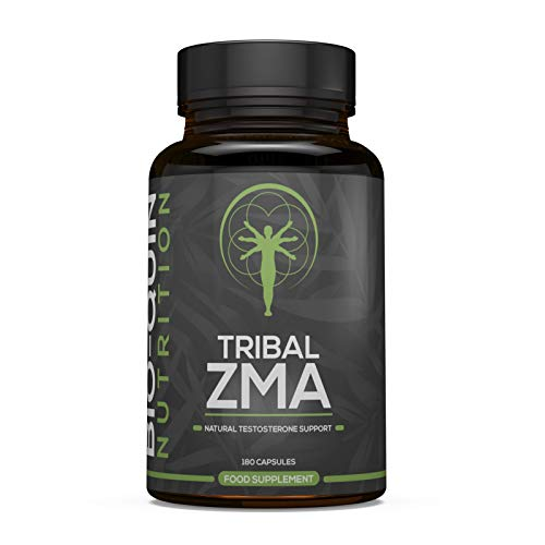 Tribal ZMA, Supports Natural Testosterone Levels, 3 Month Supply, High Strength ZMA with Added Ingredients, 180 Capsules