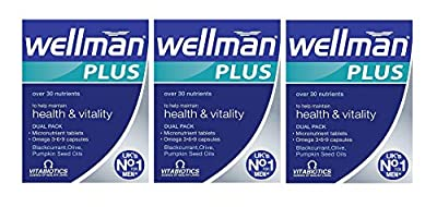 Vitabiotics Wellman Plus Omega 3?6?9 - 56 Tablets/Capsules, Pack of Three