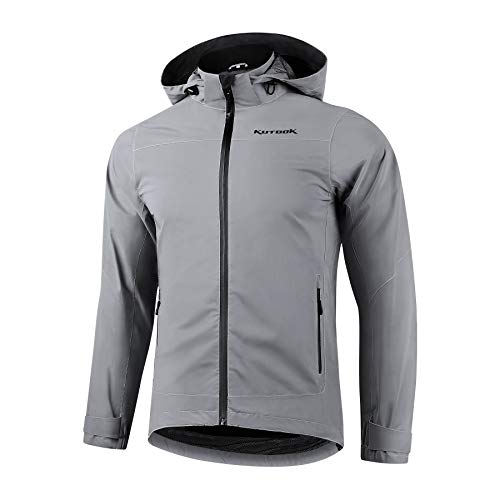KUTOOK Chaqueta Impermeable Reflectante para Hombre Mujer, Chubasquero Impermeable y Transpirable 10000/5000...
