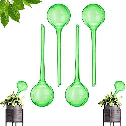 YUQIN Bewässerungskugeln 4er Set Automatische Bewässerungskugeln Dosierte Bewässerung Kunststoff Wasserspender für Topfpflanzen