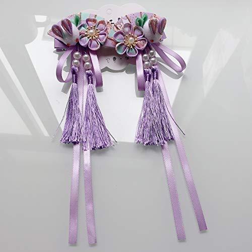 Horquilla de tela y abanico para el pelo, diseño de conejo, con...