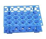 Portaprovette da centrifuga per 10ml / 15ml / 50ml Portaprovette da laboratorio in plastica (confezione da 1) (blu) (50 pozzetti)