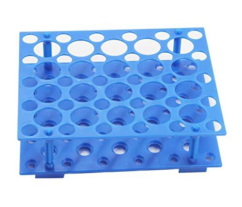 Zentrifugenröhrchen-Rack für 10 ml / 15 ml / 50 ml Labor-Kunststoff-Röhrchenhalter (Packung mit einem) (Blau) (50 Wells)