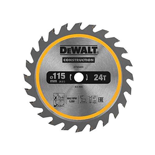 DeWalt DT20420-QZ DT20420-QZ-Hoja para Sierra Circular estacionaria 115x10mm 24D