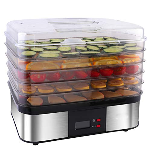 Fantastic Deal! JION Stainless steel food dehydrator, digital timer and temperature control, 5 trays...