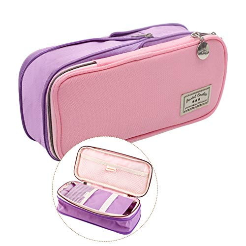 Nueva caja de lápices Lápiz Caja Linda Capacidad Multifunctona Multifunctona MÁS MÁS CASO DE PLAN Suministros escolares para niñas Muchacho (Color : Pink Purple)
