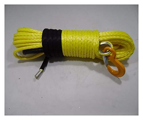 NKJH Linie synthetische Winde Gelb 10mm * 30m Synthetic Winch Seil, ATV Winch-Kabel for 4wd Teile, ATV Winch Realy for Mithelfer (Color : A)
