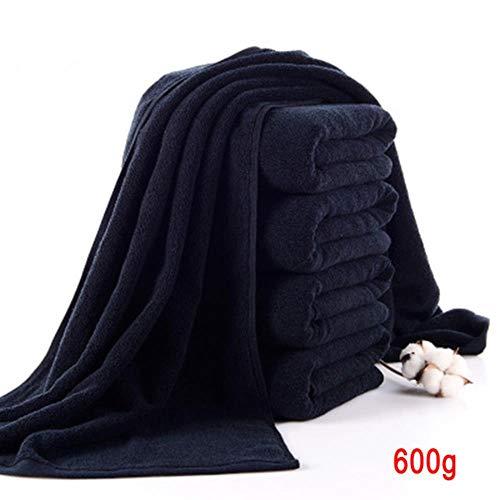 CICI Maletín Negro en una Toalla Suave de algodón Puro para los hoteles de baño Lavable de Alta absorción rápida Sauna Toalla de Secado, colección máquina de Gimnasio de usos múltiples,600g to.