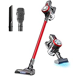Dibea Upgraded 15000pa Cordless Lightweight Stick Vacuum