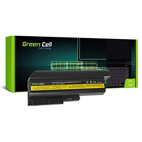 Green Cell Extended Series Battery for Lenovo IBM ThinkPad R60 R60i R60e R61 R61e T60 T60p T61 SL400 SL500 R500 T500 W500 (9 Cells 6600mAh 10.8V Black)