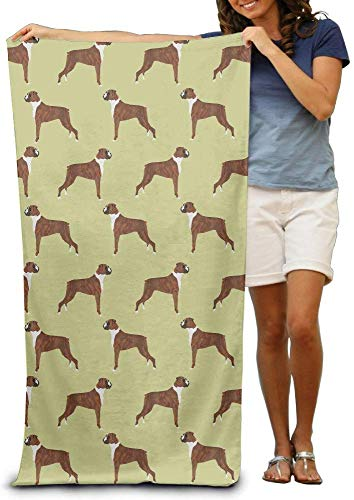 Houlipeng Boxer Dogs Adults Cotton Beach Towel 31