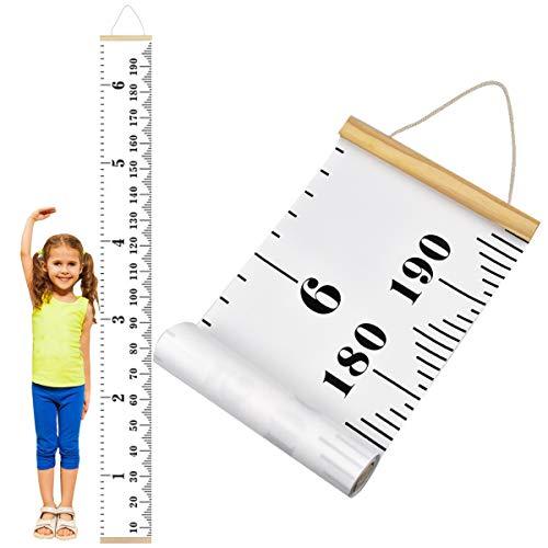 Dokpav Grafico Altezza bambini,Metro da Parete per Bambini, Arte Appesa Righelli, Crescita Grafico in Tela per bambini Ragazze Arredamento della camera, 20 x 200 cm