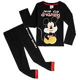 Disney Mickey Mouse Pijama Niño, Pijamas Niños 100% Algodon, Conjunto Pijama Niño Invierno de Manga Larga, Regalos para Niños y Niñas 12 Meses- 6 Años(18-24 Meses)