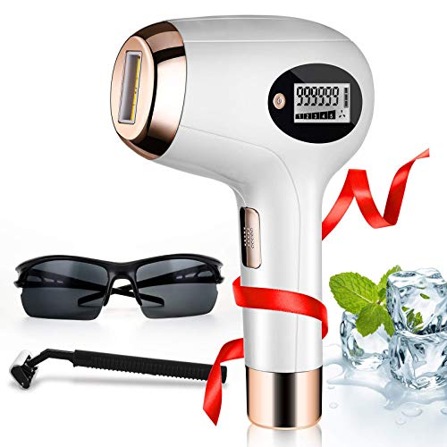 Laser Hair Removal for Women | Men,MELUN 999999 Flashes Permanent Hair Removal - Home Use Hair Remover on Bikini line, Legs, Arms, Armpits - More Comfortable and Effective