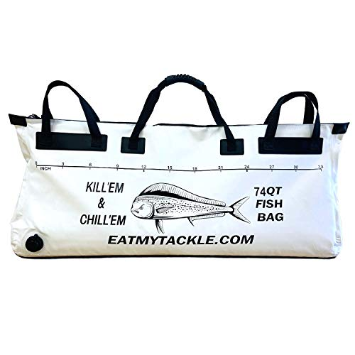 EatMyTackle Fish Cooler Bag: Insulated Leakproof Soft Collapsible Kill Bag (74 Quart, 40 inch)