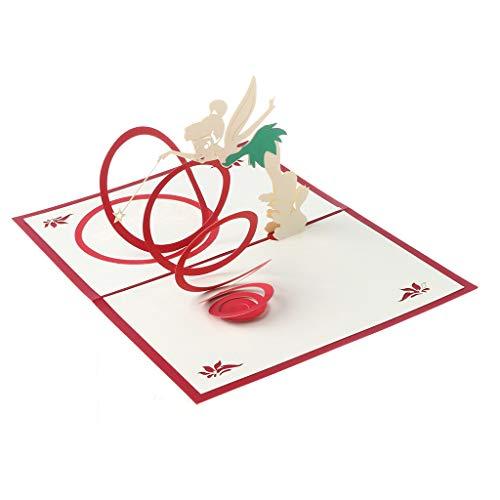 BANGNA Tarjeta de felicitación de Hadas mágicas 3D Hecho a Mano Pop Up Cumpleaños Día de los niños Navidad