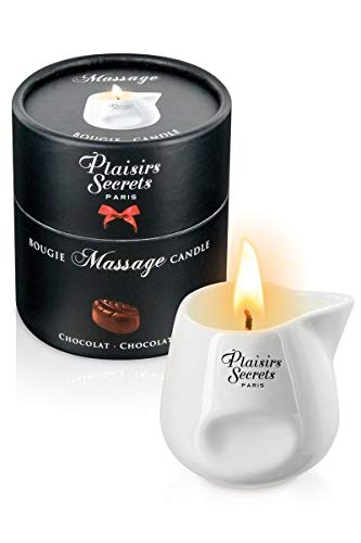 Plaisirs Secrets Bougie de Massage Gourmande Parfum Chocolat 80 ml
