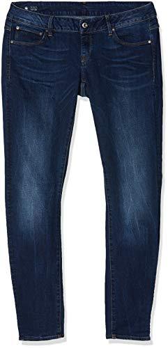 G-STAR RAW Damen 3301 Low Waist Super Skinny Colored Jeans, Blau (medium aged D008-071), 34W / 32L