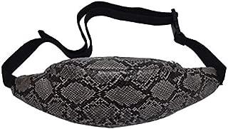 Women Snake Print Waist Bag Casual Fanny Belt Packs Shoulder Phone Pouch Women PU Leather Fashion Vintage Crossbody Chest Bags (Color : Brown)