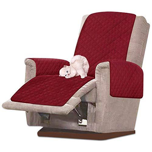 N/K Sesselschoner Sesselauflage Sesselschutz Relaxsessel Schutz Abdeckung mit Armlehne Schonbezug Sofaüberwurf Sofabezug 1 Sitzer Sofaüberwurf Wasserdicht rutschfest (Rot)