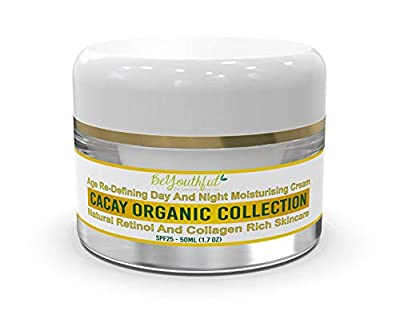 BeYouthful Cacay Oil Moisturiser Day Cream For Face, Combination, Dry Even Oily Skin With Retinol, Hyaluronic Acid, Vitamin C, E. Intensive Hydrating Anti Ageing, Anti Wrinkle SPF 25. by Beyouthful