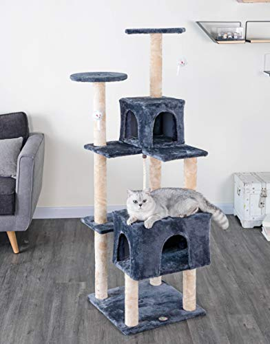 Go Pet Club 61' Kitten Cat Tree House, Gray