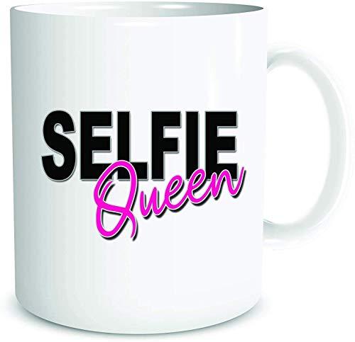 N\A Lustige Neuheit Becher Selfie Quen Kaffeebecher Tasse Freund Geburtstagsgeschenk Freund Witz Geburtstagsgeschenk
