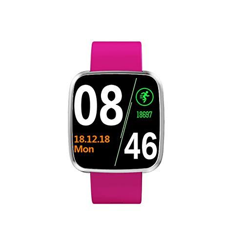 Smart Watch Mobiele Telefoon Bluetooth Smart Wearable Fashion Sports Stappenteller Stap Adsorptie Mooi Arc Fashion Watch 1,3 Inch Rood