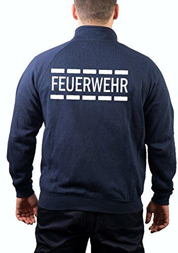 feuer1 Veste Sweat Bleu Marine, Pompiers au Design Police en Blanc M Bleu Marine