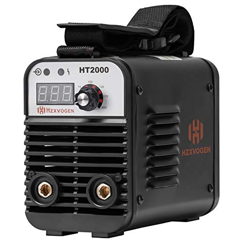 HZXVOGEN 110/220V Welder Dual Volt Arc Stick Welding Machine 60% Duty Cycle Mini Portable Inverter Welder with Electrode Holder Earth Clamp 30A Cable Adapter (Model: HT2000)