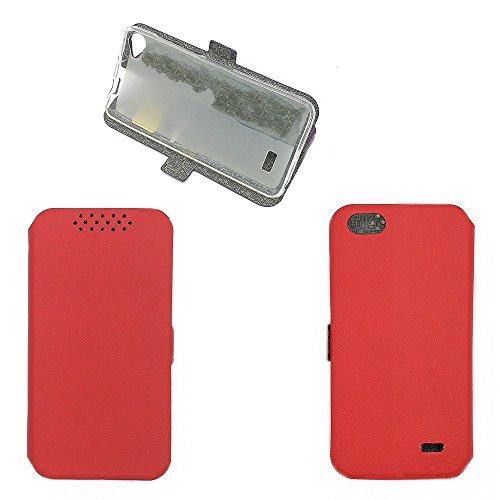 QiongniAN Hülle für Acer Liquid Z6E hülle Schutzhülle Hülle Cover Red