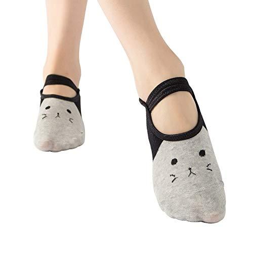 HUBINGRONG 3pairs Lace Ballet Yoga sokken boot sokken Non-slip sokken Trampoline Sokken Color willekeurig verzonden (Color : Random)